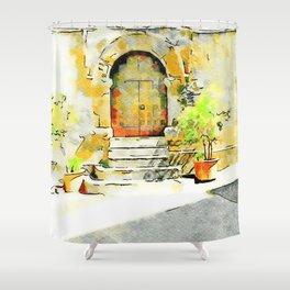 Door of the church Tortora Shower Curtain