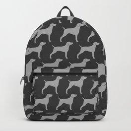 Grey Weimaraner Dog Silhouette(s) Backpack