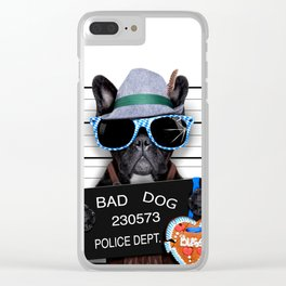 Busted Dog Clear iPhone Case