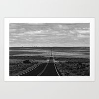 Somewhere Between Here and There in BNW Art Print