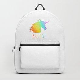Believe     Rainbow Glitter Unicorn Backpack