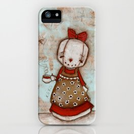 Welcome Home - Snow lady welcomes you with tea iPhone Case