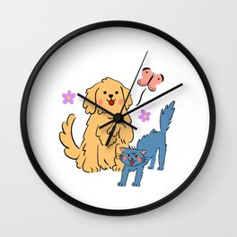 You are my golden retriever Wall Clock
