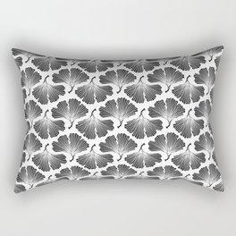 Ginkgo Leaves in Black & White Rectangular Pillow