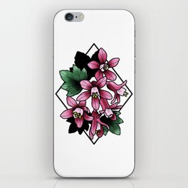 Red Flowering Currant iPhone Skin