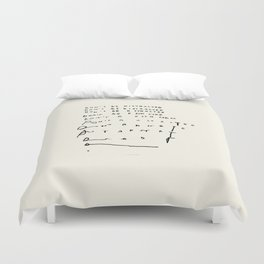 Don't Be Distracted Duvet Cover