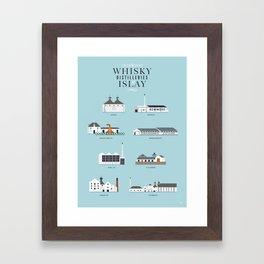 Whisky Distilleries of Islay Framed Art Print