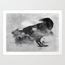 Moonlight Raven Art Print