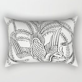 Character Drawing of a Peacock (1862) from Gazette Des Beaux-Arts a French art review Rectangular Pillow