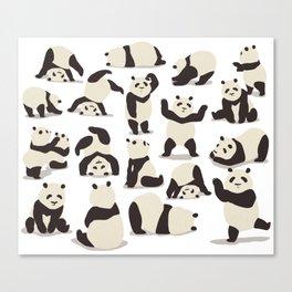Pandas Party Canvas Print