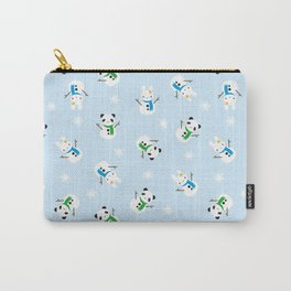 Snow Bunnies & Snow Pandas Carry-All Pouch