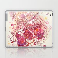 Floral universe orbit Laptop & iPad Skin