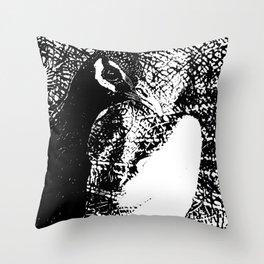 Nude Peacock Woman Throw Pillow