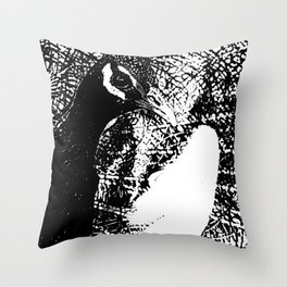 Nude Peacock Woman Throw Pillow