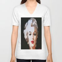 monroe V-neck T-shirts featuring Monroe by The Art Of Gem Starr