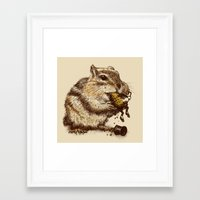 Framed Art Prints featuring Occupational Hazard  by Eric Fan