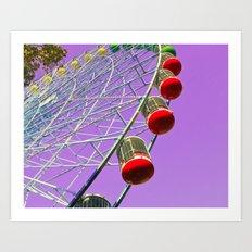 Fair Pulple sky! Art Print