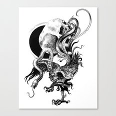 Silver And The Beast Canvas Print