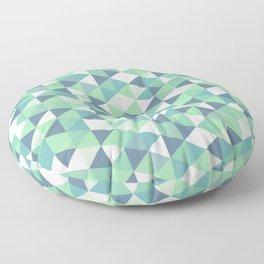Simple but beautiful geometric triangle pattern Floor Pillow