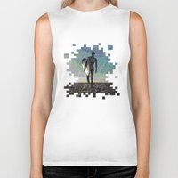 surfer Biker Tanks featuring Surfer by NeleVdM