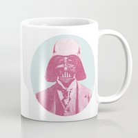 darth Mugs featuring Darth Vader by NJ-Illustrations