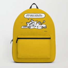 the wise cat - silence Backpack
