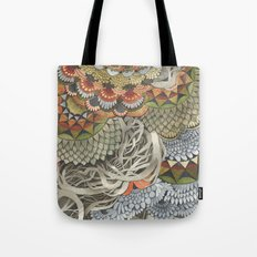 Quilted Forest: The Crow Tote Bag