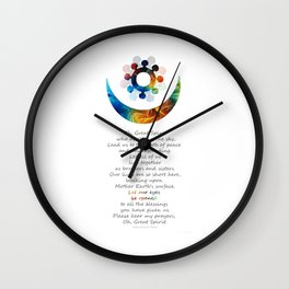 Native American Art Harmony Symbol - Peace Prayer - Sharon Cummings Wall Clock