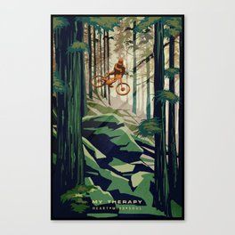 MY THERAPY MOUNTAIN BIKE POSTER Canvas Print