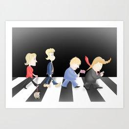 Shabby Road, feat. Marine Le Pen et les Bad Hairdos Art Print