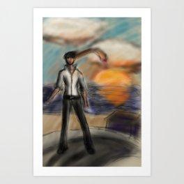 Determined rambo modern mans hustle Art Print