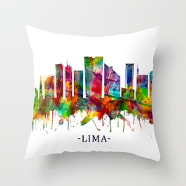 Lima Peru Skyline Throw Pillow
