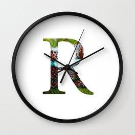 "Initital letter ""R"" Wall Clock"