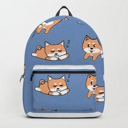 Cool Blue Shiba Pattern Backpack