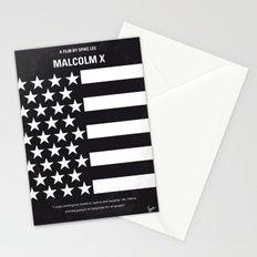 No250 My MALCOLM X minimal movie poster Stationery Cards