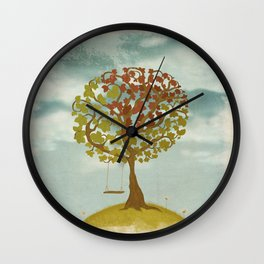 All Seasons Tree Wall Clock