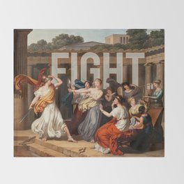 Fight. Throw Blanket