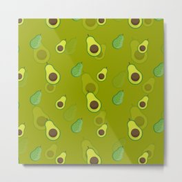 Avocado Pattern Avocado Fruit Love Avocados Metal Print