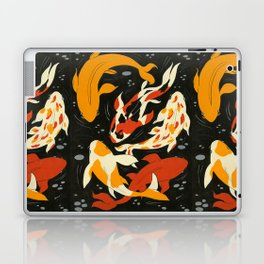Koi in Black Water Laptop & iPad Skin