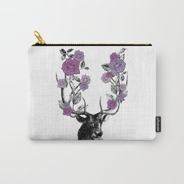 The Stag and Roses   Lilac   Purple Carry-All Pouch