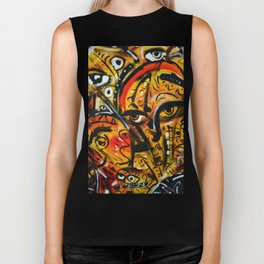 The third eye expressionist art Biker Tank