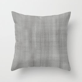 Pantone Pewter Dry Brush Strokes Texture Pattern Throw Pillow