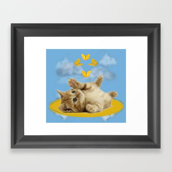 Kitty Wonder Framed Art Print