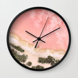 iOS 11 Rose Gold iPad background Wall Clock