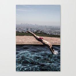 Dive into L.A. Canvas Print