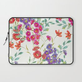 fresh floral spring scatter Laptop Sleeve