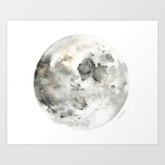 Bare Moon Art Print