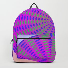 Round rose-pattern Backpack
