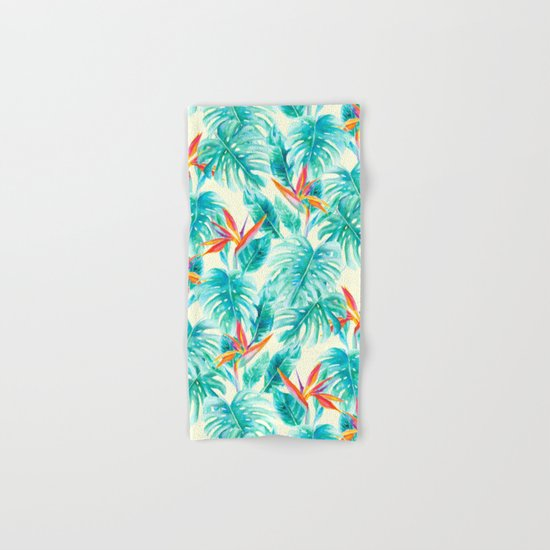 Tropical Paradise Pale Yellow Hand & Bath Towel