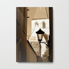 A shortcut to church Metal Print